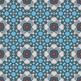 Seamless geometric mandala pattern Royalty Free Stock Photos