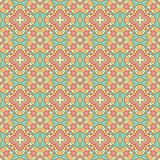 Seamless geometric mandala pattern Stock Images