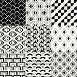 Seamless geometric mesh pattern Stock Photo