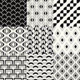 Seamless geometric mesh pattern Stock Photo