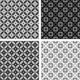 Seamless geometric modern patterns set. Royalty Free Stock Image