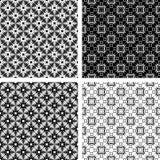 Seamless geometric modern patterns set. Vector art Royalty Free Stock Image