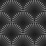 Seamless geometric monochrome pattern of rounds Royalty Free Stock Image