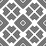 Seamless geometric monochrome striped pattern vector illustration