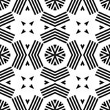 Seamless geometric monochrome striped pattern royalty free illustration