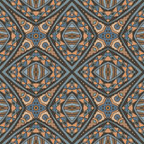 Seamless geometric mosaic print. Vector seamless pattern. Modern stylish texture. Repeating geometric background with rhombus Stock Photography