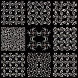 Seamless geometric nets backgrounds. Stock Photos