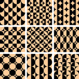 Seamless geometric op art designs. royalty free illustration