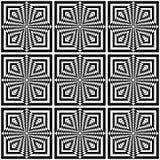 Seamless geometric op art pattern. Royalty Free Stock Photos