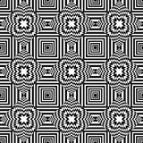 Seamless geometric op art pattern. Royalty Free Stock Photos