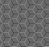 Seamless geometric op art pattern. Royalty Free Stock Images