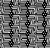 Seamless geometric op art pattern. Stock Image