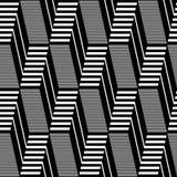 Seamless geometric op art pattern. Stock Image