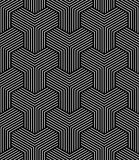 Seamless geometric op art pattern. Royalty Free Stock Images