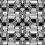 Seamless geometric op art pattern. Royalty Free Stock Photography