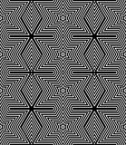 Seamless geometric op art texture. Royalty Free Stock Image
