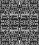 Seamless geometric op art texture. Royalty Free Stock Images