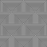 Seamless geometric op art texture. Royalty Free Stock Photography