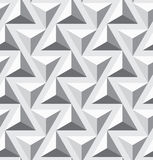 Seamless geometric opt triangle texture. Seamless geometric op art texture. Triangles  pattern. Vector art Stock Photo
