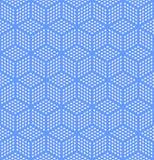 Seamless geometric optical illusion texture. Seamless geometric blue pattern. Optical illusion texture. Vector art vector illustration