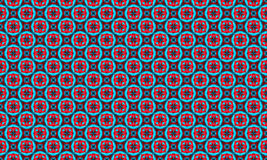 Seamless geometric ornament. Red and Blue. Seamless geometric ornament. Pattern can be used for wallpaper, textures Stock Image