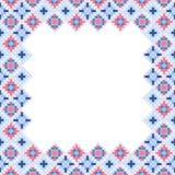 Seamless geometric patchwork frame Royalty Free Stock Image