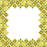 Seamless geometric patchwork frame Stock Photo
