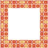 Seamless geometric patchwork frame Stock Photos