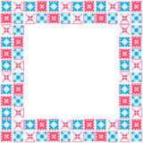 Seamless geometric patchwork frame Royalty Free Stock Image