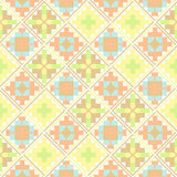 Seamless geometric patchwork pattern Stock Images