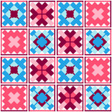 Seamless geometric patchwork pattern Royalty Free Stock Photography