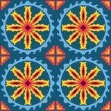 Seamless geometric patchwork pattern Royalty Free Stock Image