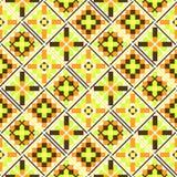 Seamless geometric patchwork pattern Stock Image