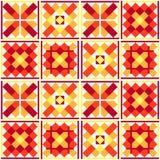Seamless geometric patchwork pattern Stock Photo