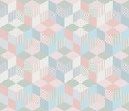 Seamless geometric patchwork pattern in pastel tones. Decorative ornamental background. Can be used for wallpapers, textiles, fabrics, textures, wrapping Stock Photo