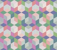 Seamless geometric patchwork pattern. Stock Photos