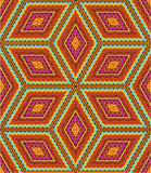 Seamless geometric pattern. Seamless (easy to repeat) kashmir (cashmere), paisley or oriental rug geometric pattern (background, wallpaper, print, swatch Royalty Free Stock Image