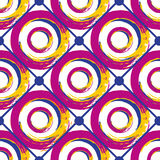 Seamless geometric pattern. Abstract circles background. Retro texture Stock Photos
