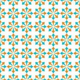 Seamless geometric pattern of abstract elements Stock Photos