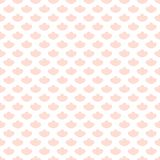 Seamless geometric pattern with abstract pink flower ornament. Vector Illustration. Seamless geometric pattern with abstract pink flower ornament. Vector Stock Photography