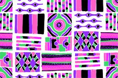 Seamless geometric pattern in Aztec style. Tribal ethnic vector texture. African Stock Photo