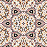 Seamless geometric pattern in black, orange and red Royalty Free Stock Images