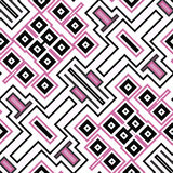 Seamless geometric pattern in black and pink Stock Photography