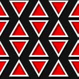 Seamless geometric pattern. Black and red 3d design. Vector illustration Royalty Free Stock Photography