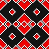 Seamless geometric pattern. Black and red 3d design. Vector illustration Stock Image