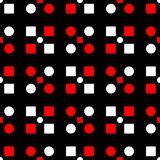 Seamless geometric pattern. Black red and white background. For wallpapers, textile and fabrics Royalty Free Stock Photography