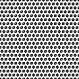 Seamless geometric pattern of black squares and diamonds on a white background. Royalty Free Stock Photography