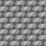 Seamless geometric pattern in black and white Royalty Free Stock Photography