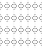 Seamless Geometric Pattern. Black And White Ornament. Vector.  Stock Illustration