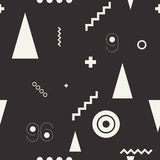 Seamless geometric pattern black and white Royalty Free Stock Photos